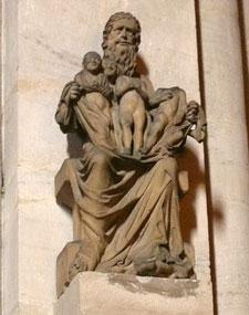 Skulptur Abrahams am Bamberger Dom