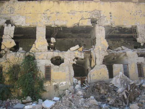 Zerstörungen in der Stadt Nablus vom April 2002