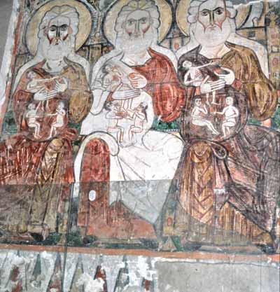 Fresko aus dem Kloster Deir es-Surian