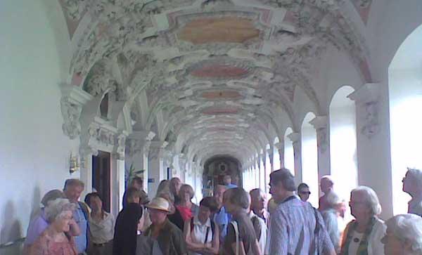 Kloster Wessobrunn Gang mit Stuck