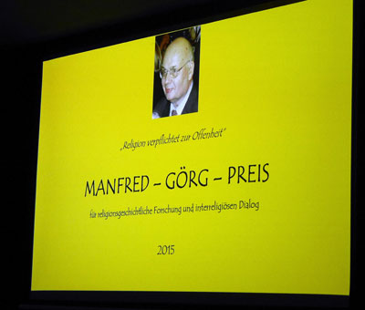 Leinwand - Motto des Manfred-Görg-Preises